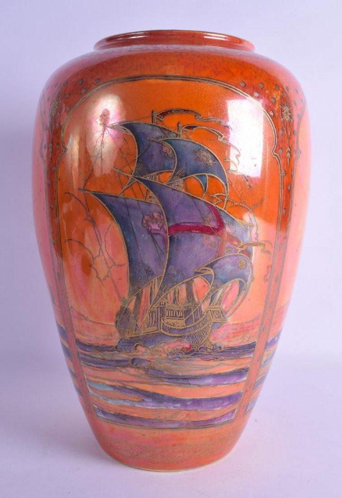 Arts And Crafts Vase Royal Worcester Antique Ceramics